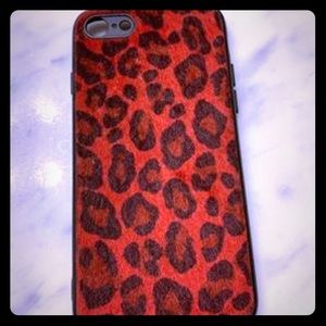 iPhone 8 red leopard cover ( IPhone 6 to 8)
